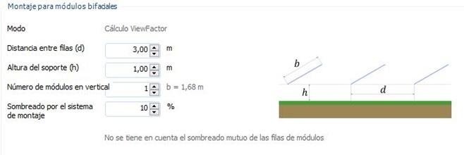 Cálculo de módulos bifaciales