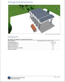 Reporte detallado del proyecto de diseño de energía solar.