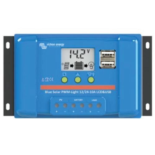REGULADOR DE VOLTAJE para sistemas fotovoltaicos BLUESOLAR PWM LCD & USB 12-24 30A