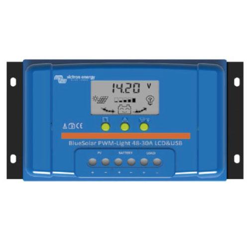 Regulador de voltaje para sistemas de energía fotovoltaica Bluesolas 20a usd y led