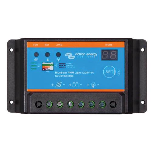 Regulador de voltaje para sistemas de energía fotovoltaica Victron Energy BlueSolar PWM-Light Charge Controller 12-24V-5A